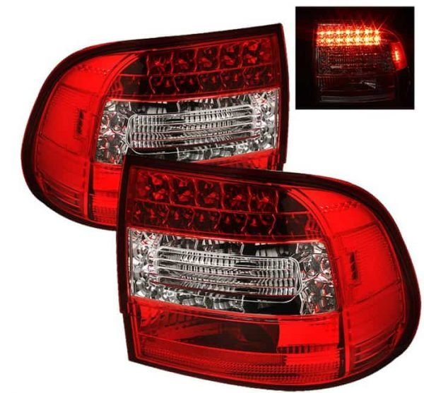 03-07 Porsche Cayenne LED Tail Lights - Red