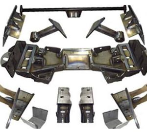 1963-1972 Chevrolet C10 Street Scraper Front Air Suspension Kit (Front Axle Cross-member Bracket Kit)(no fittings)