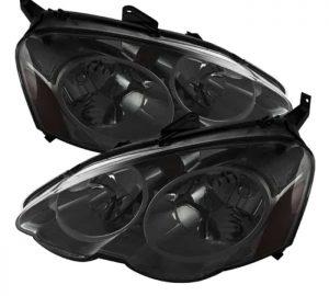 2002-2004 Acura RSX Amber Crystal Headlights - Smoked