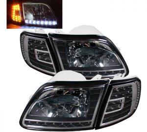 97-03 Ford F150 / Expedition LED Crystal Headlights (SET w/ Turn Signal) - Black