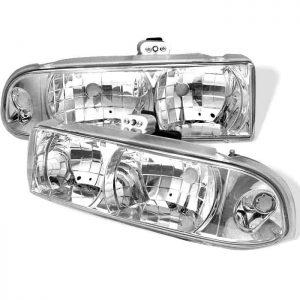1998-2002 Chevy S-10 Crystal Headlights - Chrome