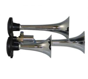 "12"" Triple Train Air Horn With Valve - 118db"