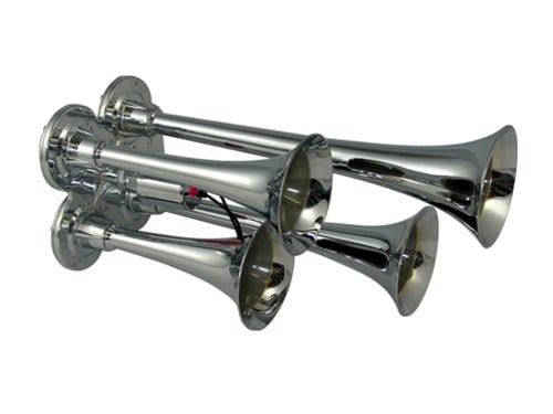 "14"" Quad Train Air Horn With Valve - 139db"