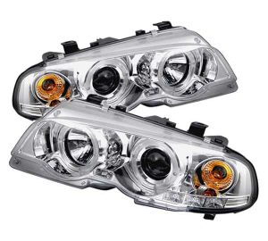 2000-2003 BMW E46 M3 3-Series (2 Door) 1PC Halo Projector Headlights - Chrome