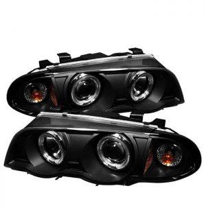 1999-2001 BMW E46 3-Series (4 Door) 1PC Halo Projector Headlights - Black