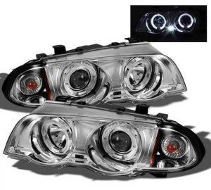 1999-2001 BMW E46 3-Series (4 Door) 1PC Halo Projector Headlights - Chrome