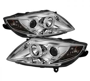 2003-2008 BMW Z4 (NON-HID TYPE) Halo Projector Headlights - Chrome