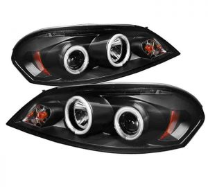 2006-2010 Chevy Impala, Monte Carlo CCFL LED Projector Headlights - Black
