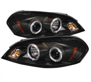 2006-2010 Chevy Impala, Monte Carlo Halo LED Projector Headlights - Black