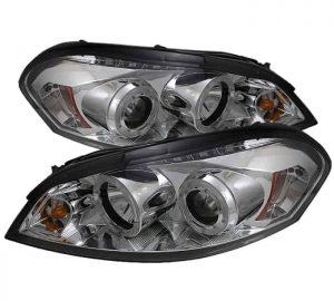 2006-2010 Chevy Impala, Monte Carlo Halo LED Projector Headlights - Chrome