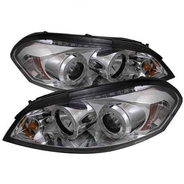 2006-2010 Chevy Impala, Monte Carlo Halo LED Projector Headlights - Chrome