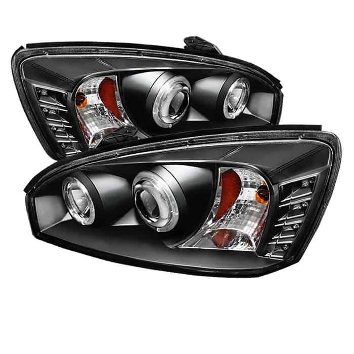 2004-2007 Chevy Malibu Halo Projector Headlights (Replaceable LEDs) - Black