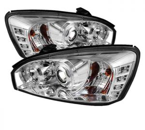2004-2007 Chevy Malibu Halo Projector Headlights (Replaceable LED's) - Chrome