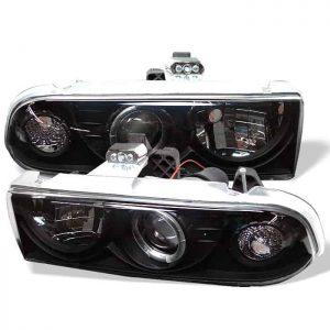 1998-2005 Chevy S-10, Blazer LED Halo Projector Headlights - Black