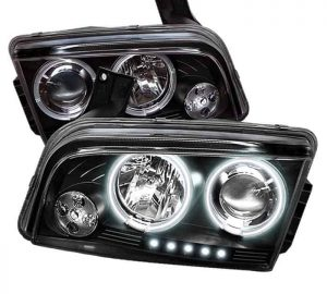 2006-2010 Dodge Charger CCFL LED Projector Headlights (Not Compatible w/Xenon-HID Model) - Black