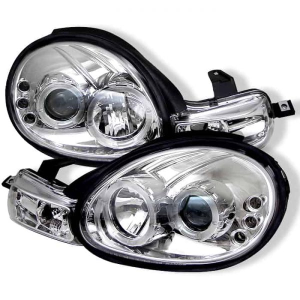 2000-2002 Dodge Neon Halo LED Projector Headlights (Replaceable LED's) - Chrome