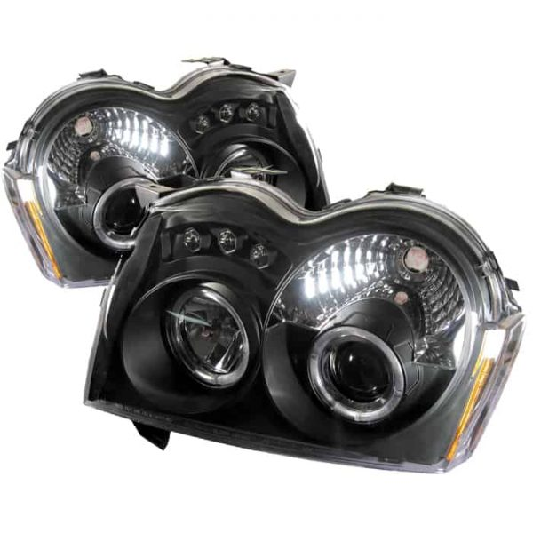 2005-2007 Jeep Grand Cherokee Halo LED Projector Headlights