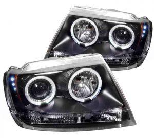 1999-2004 Jeep Grand Cherokee Halo LED Projector Headlights