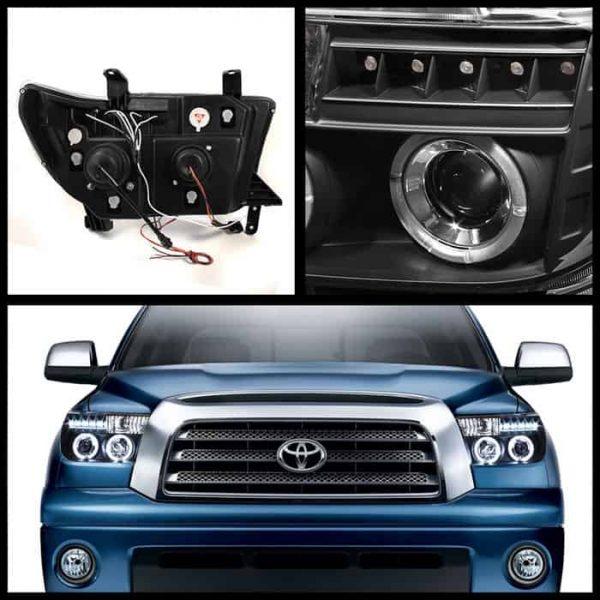 2007-2012 Toyota Tundra, Sequoia Halo LED Projector Headlights