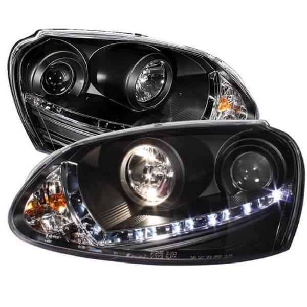 2006-2009 Volkswagen GTI, Jetta, Rabbit DRL LED Projector Headlights (Halogen Bulb Type)