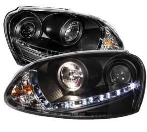 2006-2009 Volkswagen GTI, Jetta, Rabbit DRL LED Projector Headlights (HID Type)