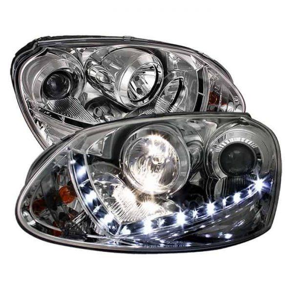 2006-2009 Volkswagen GTI, Jetta, Rabbit DRL LED Projector Headlights (HID Type)