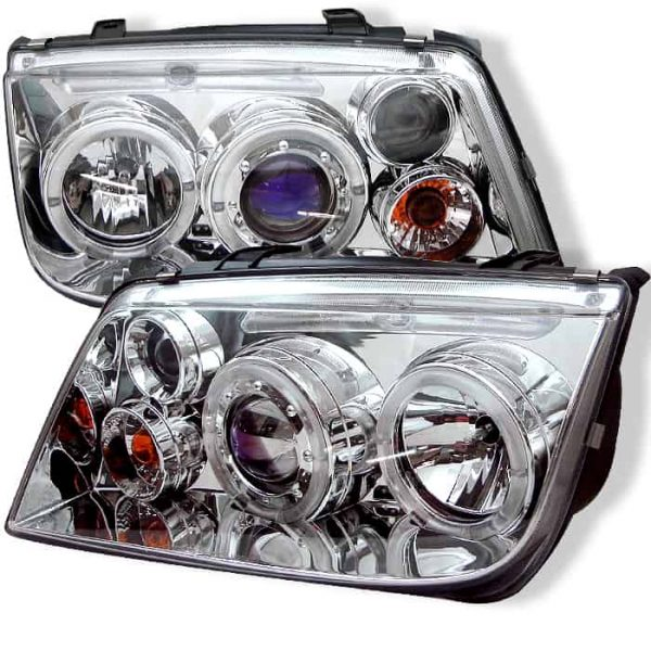 1999-2004 Volkswagen Jetta Halo LED Projector Headlights