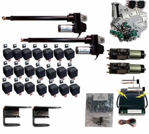 Complete Universal Lambo Door Hinge Kit with 2-Actuators, 2-Struts & Wireless Remote