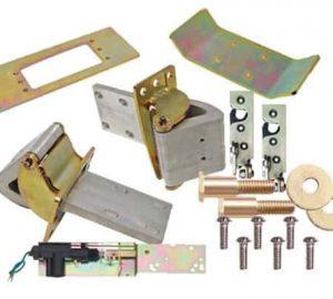 Complete 2 Door Brushed Suicide Door Hinge Kit w/Claws, Latches, Strikers, Actuators and Hardware (1 Pair)