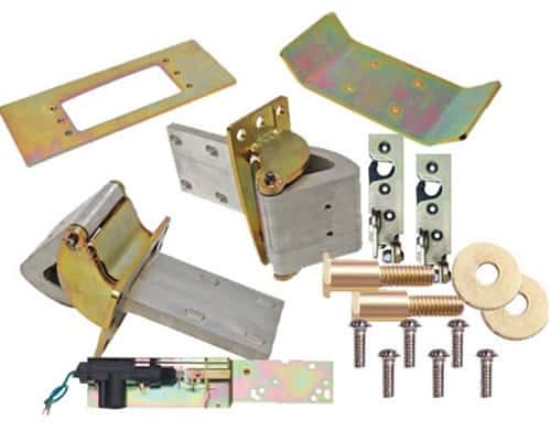 Complete 2 Door Brushed Suicide Door Hinge Kit w/Claws, Latches, Strikers, Actuators and Hardware (1 Pair)