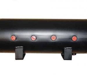"5 Gallon, 8 Port Steel Black Air Tank (29"" X 8.4"")"