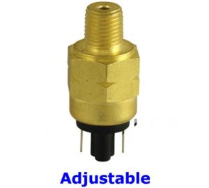 """50 to 200 PSI Adjustable Air Pressure Switch - 1/4"""" NPT"""