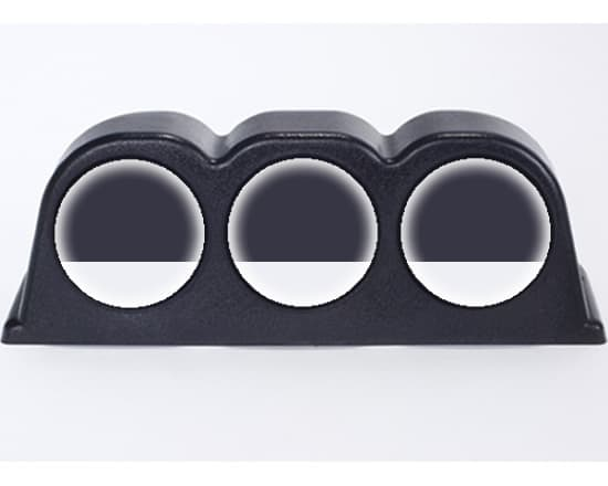 3 Gauge Pod Dash Mount Pod Only (Universal Trim-able Design)