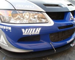 2008-UP Mitsubishi Evolution X Carbon Fiber Wind Splitter (with factory lip)