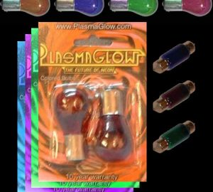 Colored Glass Accessory Bulbs