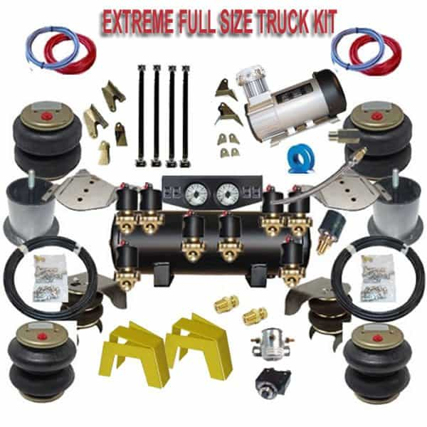 FULL SIZE Truck EXTREME FBSS Air Suspension Kit With 4 Links,  Panhard Bar & Frame Bridge