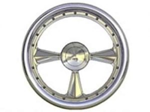 Full Custom Billet Steering Wheel – 3 Spoke W/ Rivets