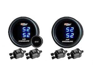 Dual Tinted LED Digital Pressure Gauges & Sending Units – 200psi – Pair