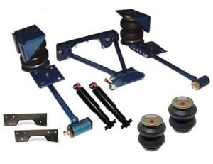 1980-1997 Nissan Hardbody Rear Air Suspension, Custom 4-Link / Bags / Brackets (no fittings) (Bolt-In 4-Links)