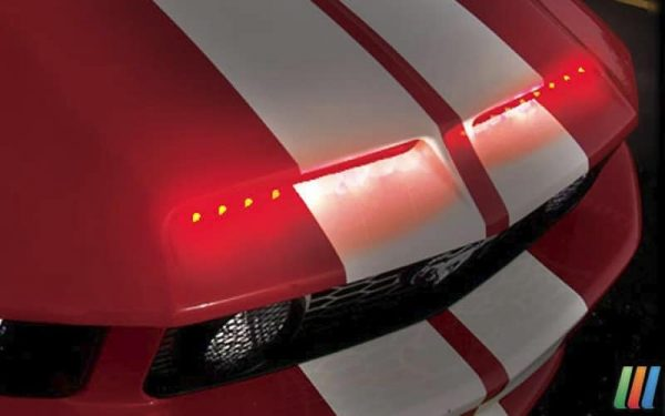 Night Raider LED Hood Scoop Scanner (dual – 8 inch) Red