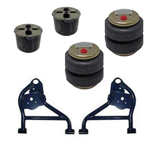 1994-1999 Dodge Ram 1500 2WD Front Air Suspension Kit, Lower Control Arms / Bags / Brackets (no fittings)