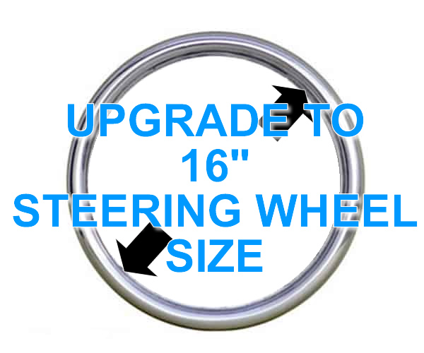 16 Inch Steering Wheel Size **UPGRADE**