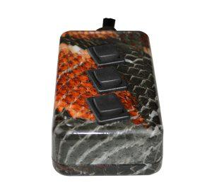 3-ROCKER Universal Air Ride Switch Controller – Snake Skin (Hydro Dipped)