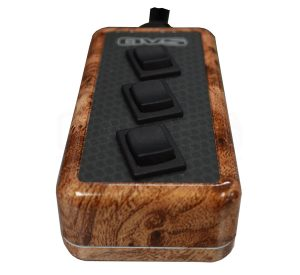 3-ROCKER Universal Air Ride Switch Controller – Wood Grain (Hydro Dipped)