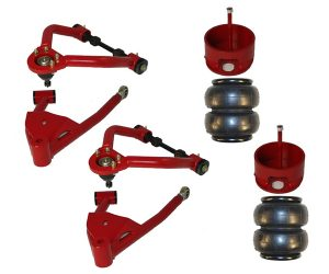 1995-2000 Toyota Tacoma, Hilux Lowered Tubular Air Control Arms (Pair) (Upper and Lower Arms, Bags, Brackets)