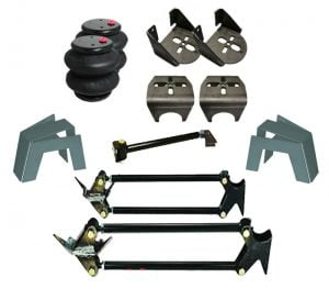 1982-1996 Ford F100, F150 Rear Air Suspension, 4-Link, Bag & Bracket Kit with 10″ Notch (no fittings)