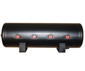 9 Gallon, 8 Port Steel Black Air Tank (31″ X 8.4″)