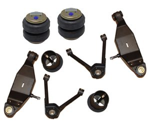 1965-1970 Chevrolet Impala Upper & Lower Control Arms, Bags, & Brackets Front Air Suspension Kit (B-Body) (no fittings)