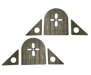 Bag Brackets Upper Bag Plate for Standard and Heavy Duty Bags (Top Pair)